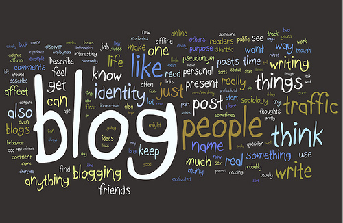 Blogging Research Wordle - CC by Kristina B