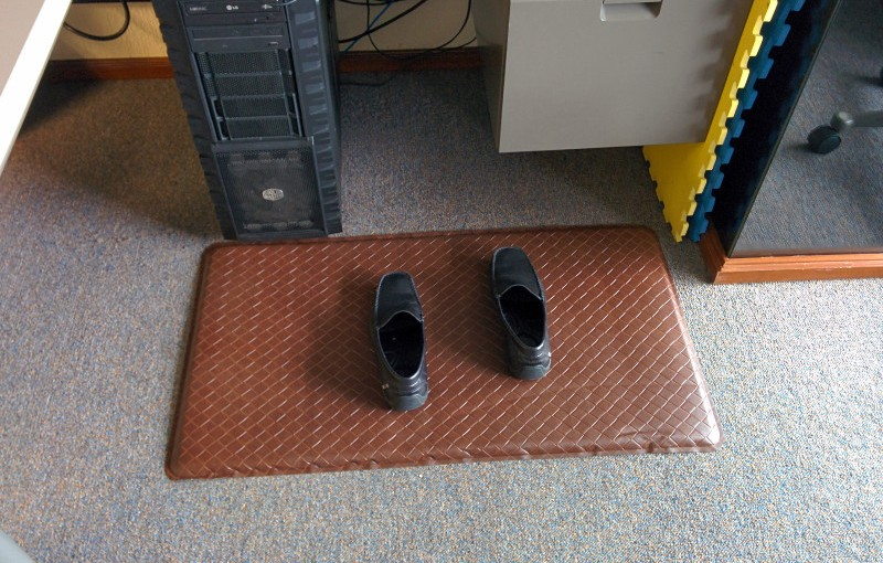 My new anti-fatigue mat for my standup workstation.