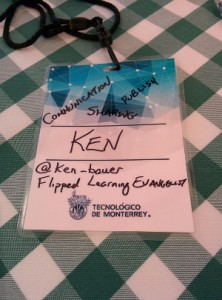 Ken's name badge at our retreat.